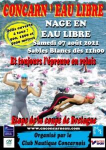 Coupe de Bretagne Eau Libre 2021: Concarneau Libre @ Plage des Sables Blancs à Concarneau